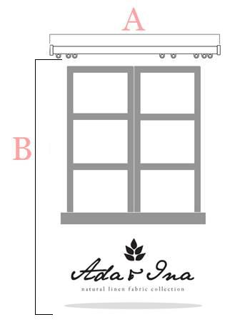Så mäter du gardiner till gardinskena - Ada & Ina