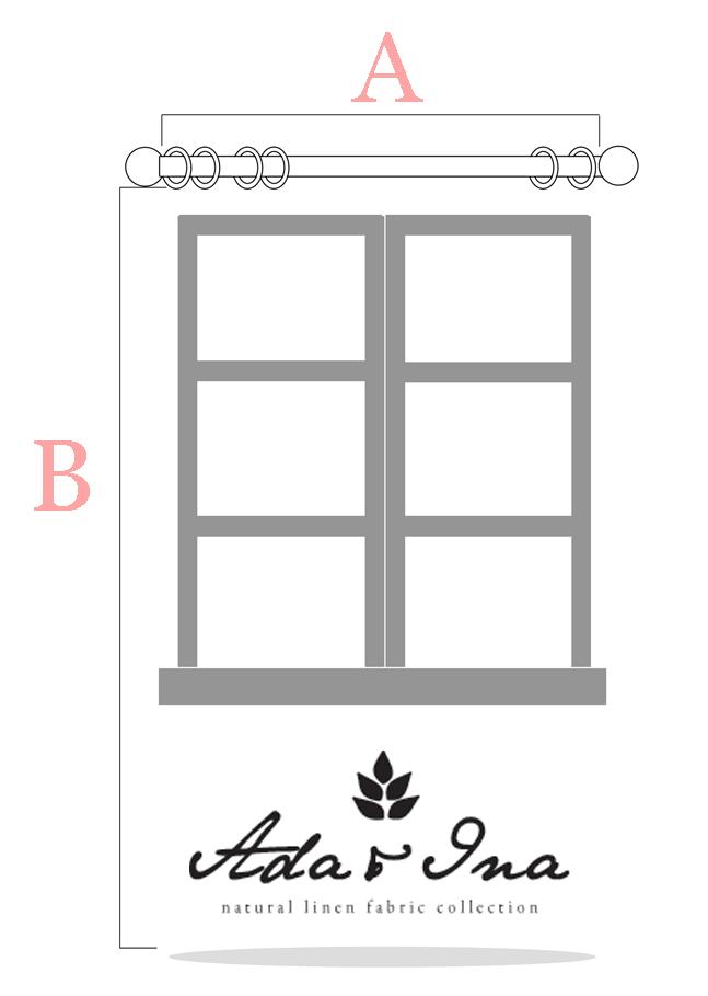 Så mäter du gardiner till gardinstång - Ada & Ina