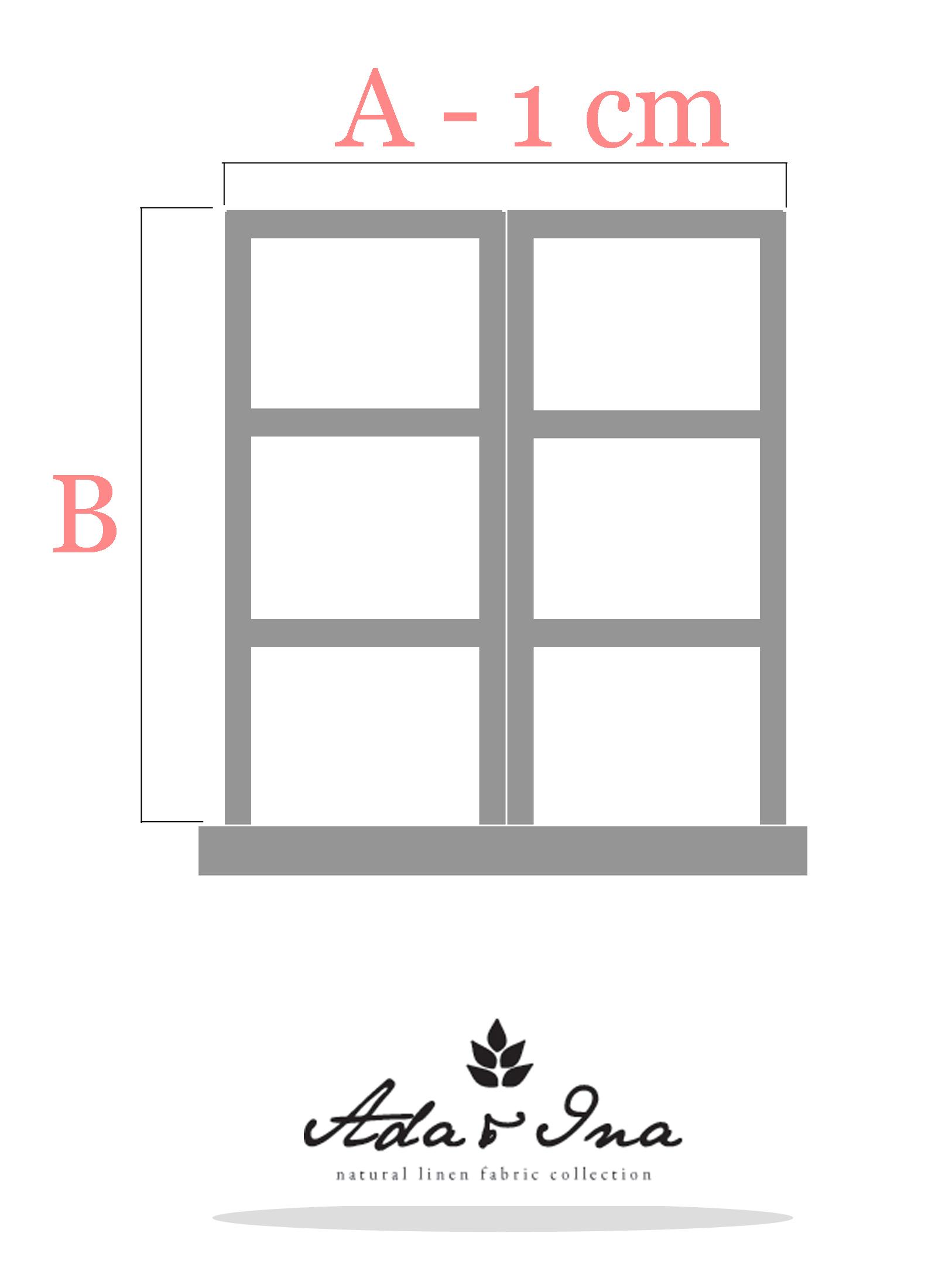 Så tar du måtten för en hissgardin som hänger inuti fönsterkarmen - Ada & Ina