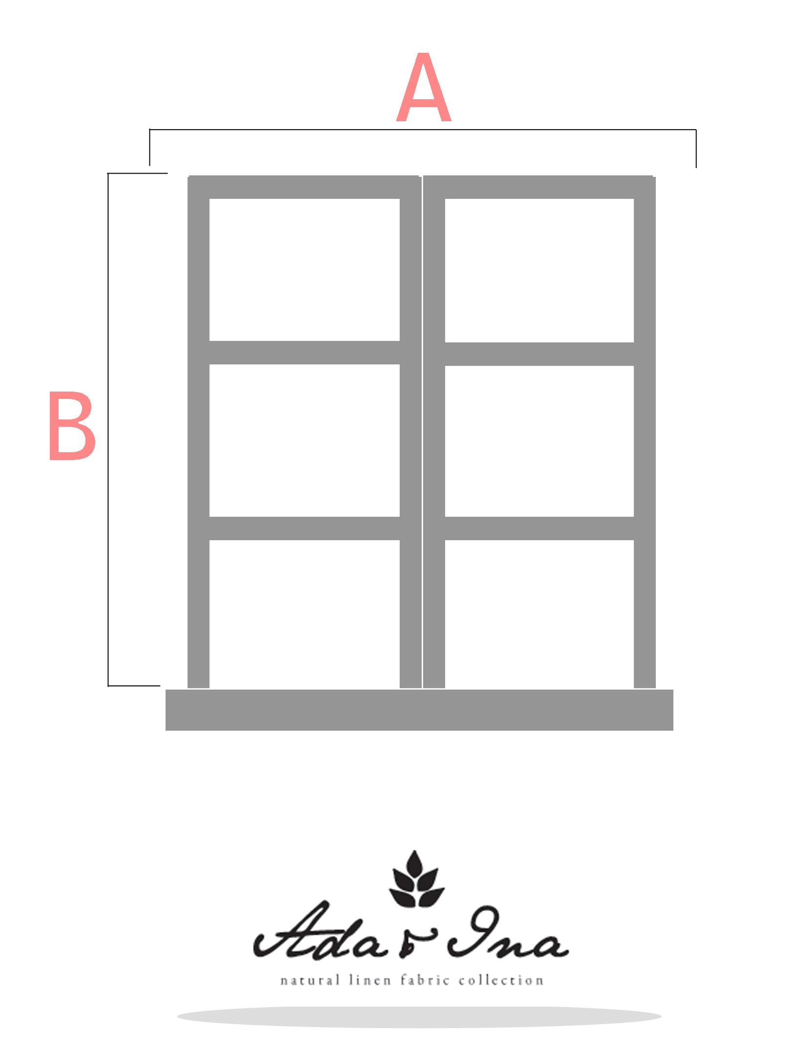 Så tar du måtten för en hissgardin som hänger utanför fönsterkarmen - Ada & Ina