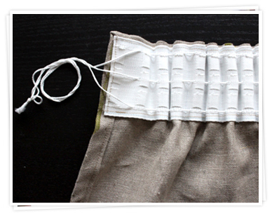 Pencil pleat curtains from the back from Ada & Ina
